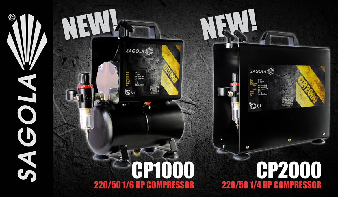 New Sagola Cp1000 And Cp2000 Compressors Smitsgroup Thinner Spies Hecker 1 Liter 220 50 6 Hp Compressor